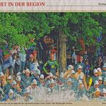 Mittendrin - statt nur dabei - die Foto-Gräfin-Siegel mit Gipsarm am Baum ...