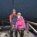 Gegen 5.15 Uhr beginnen wir die Gipfeltour ...