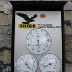 Als wir oben ankamen, zeigte das Thermometer 3° C an ...