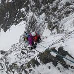 Außerdem sind wir vom Bergführer gut gesichert ...