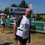 Unser Fahrgast - Bernd Wohlgemuth - startete bei der 4-Kilometer-Strecke ...