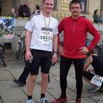 Marcel Peschel und Alexander beim City-Lauf 2010 ...