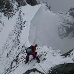 Dieser Grat war eine echte Herausforderung, vor allem beim Abstieg ...