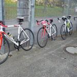 """Wir fahren mit unseren """"Wilier-Rennrädern"""" ..."""