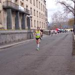 Das ist der spätere Gewinner des Halbmarathons ...