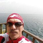 Pause während der Umrundung des Gardasees ...