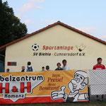 Biehla hat einen riesigen Sportplatz und jede Menge angagierte Leute ...