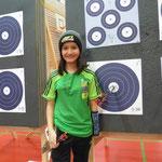 Anja während ihr Schweizer Indoor Rekord Lauf