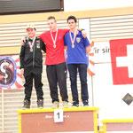 Stefan 3., Mark 1. , Timo  2. - Schweizermeisterschaft Indoor 2014