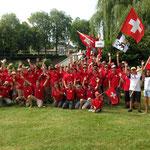 Gruppenfoto Team Schweiz mit Team Liechtenstein
