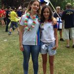 Emma de Grandis (IT)und Anja herzliches Wiedersehen nach 2 Jahren( Silber/Gold EBHC 2012)