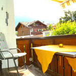 Blick auf den Balkon der Ihnen einen wunderschönen Ausblick auf Rubi- und Nebelhorn bietet