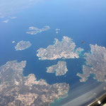 LA Maddalena islands from the air