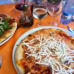 Cosmos Pizza for dinner, Sardinia
