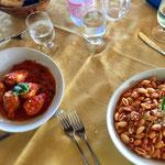 Lunch at the hotel La Vela, Sardinia