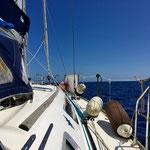 On the boat, Isola Asinara, Sardinia