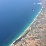 Li Junchi Beach from the air