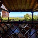 La Vela Hotel Terrace near Valledoria, Sardinia