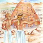 "illustration ""la bible racontée a mes petits enfants"" :Babel"