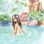 """illustration """"la bible racontée a mes petits enfants"""" : le livre de Daniel"""