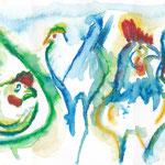 Frühling im Hühnerhof