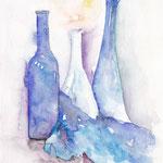 Flaschen blau