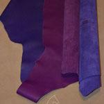 Veau Soft Violet et Mauve