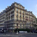 Début du montage des échafaudages de façades à Neuilly sur Seine (92)