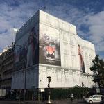 Fin du montage des échafaudages de façades à Neuilly sur Seine (92)