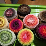Eine Auswahl Mützenwolle