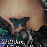 蝶 / 隠し彫り