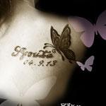 トライバルの蝶