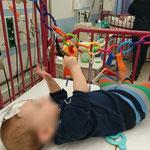Im 9. Monat - für ein paar Tage im Krankenhaus