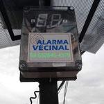 Panel de alarma con display