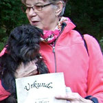 Siegerfoto:-) Clarissa hat beim Affenpinscher-Rennen in der offenen Klasse den ersten Platz erreicht!