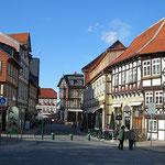 Fußgängerzone in Wernigerode im Harz