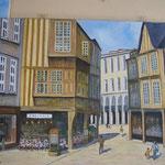 Vieille maison bretonne  - 92x73
