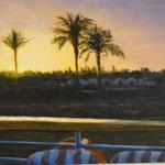 Soleil levant sur le Nil  - 55x45