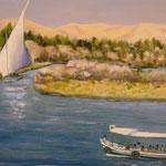 Félouque sur le Nil  - 56x46