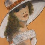 Femme au chapeau 5 - 35x46