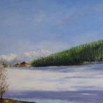Le lac Grenon (Suisse) - 60x80