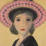 Femme au chapeau 6 - 35x46