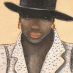 Femme au chapeau 3 - 35x46