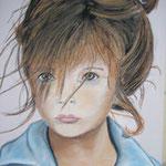 fillette boudeuse - 35x46