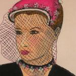 Femme au chapeau 2 - 35x46