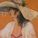 Femme au chapeau 4 - 35x46