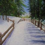 Le Chemin du lac - 92x73