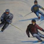 Les skieurs   41x33
