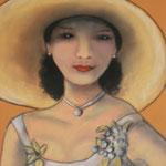 Femme au chapeau 7 - 35x46