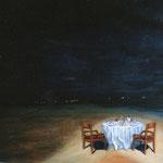 Un soir sur la plage - 92x73